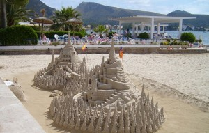 Beach art in Pollensa